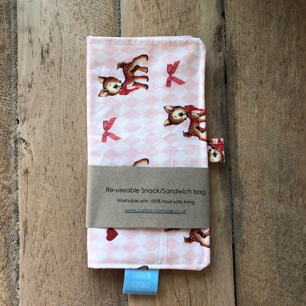 Reusable Snack and Sandwich Bags - Retro Fawn