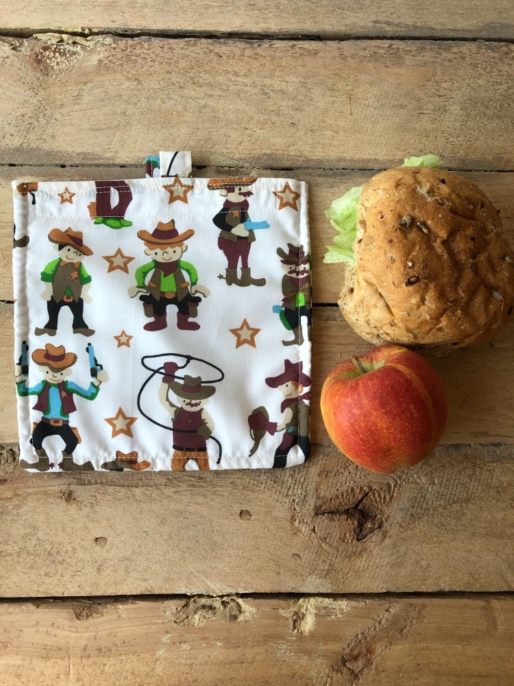 Reusable Snack and Sandwich Bags - Cowboy