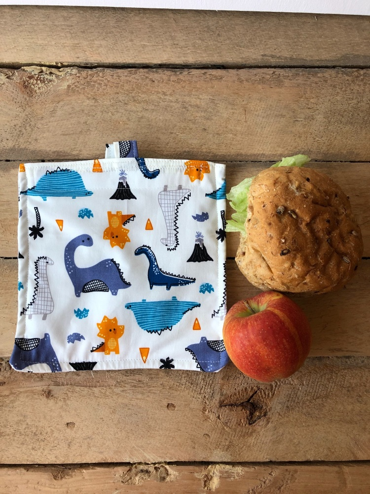 Reusable Snack and Sandwich Bags - Dinosaur