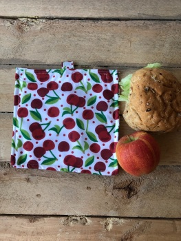 Reusable Snack and Sandwich Bags - Cherries