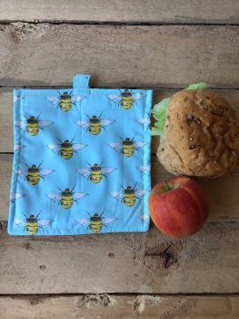 Reusable Snack and Sandwich Bags - Bees Blue