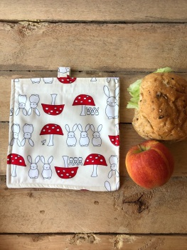 Reusable Snack and Sandwich Bags - Bunnies and Toadstools