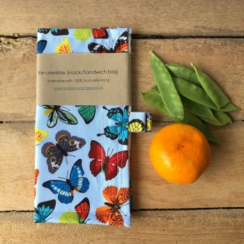 Reusable Snack and Sandwich Bags - Butterfly