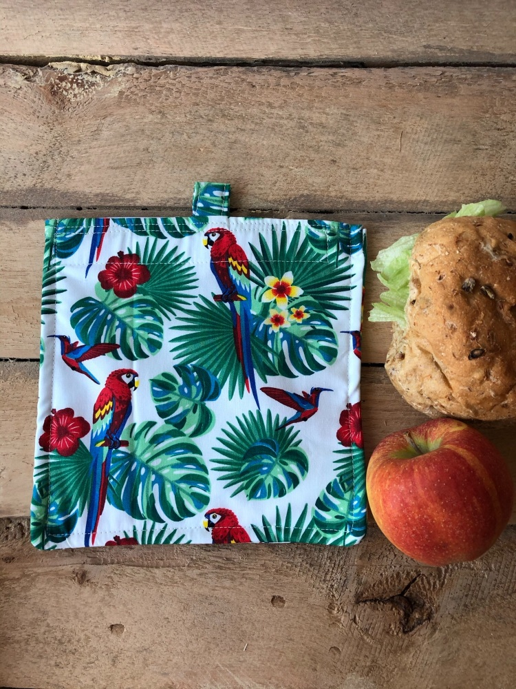 Reusable Snack and Sandwich Bags - Tropical Parrot