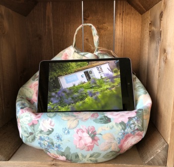 Tablet and iPad Bean Bag -  Vintage Rose