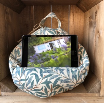 Tablet  and iPad Bean Bag - William Morris Willow Bough Green