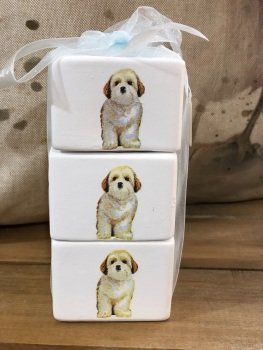 Stacking Tea Light Candle Holders - Shih Tzu