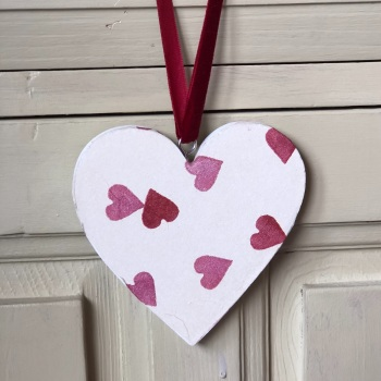 Hanging Heart -  Wood Heart -Hearts