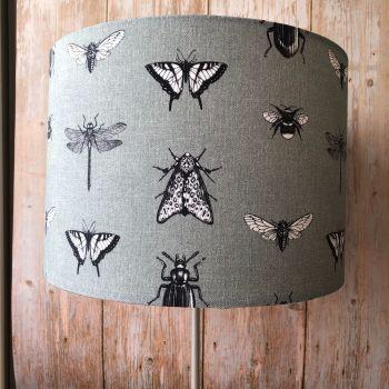 Lampshade - Grey Bugs
