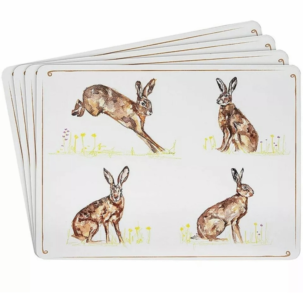Hare Placemats- Set of 4