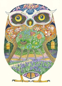 DM Card - Owl in Forest