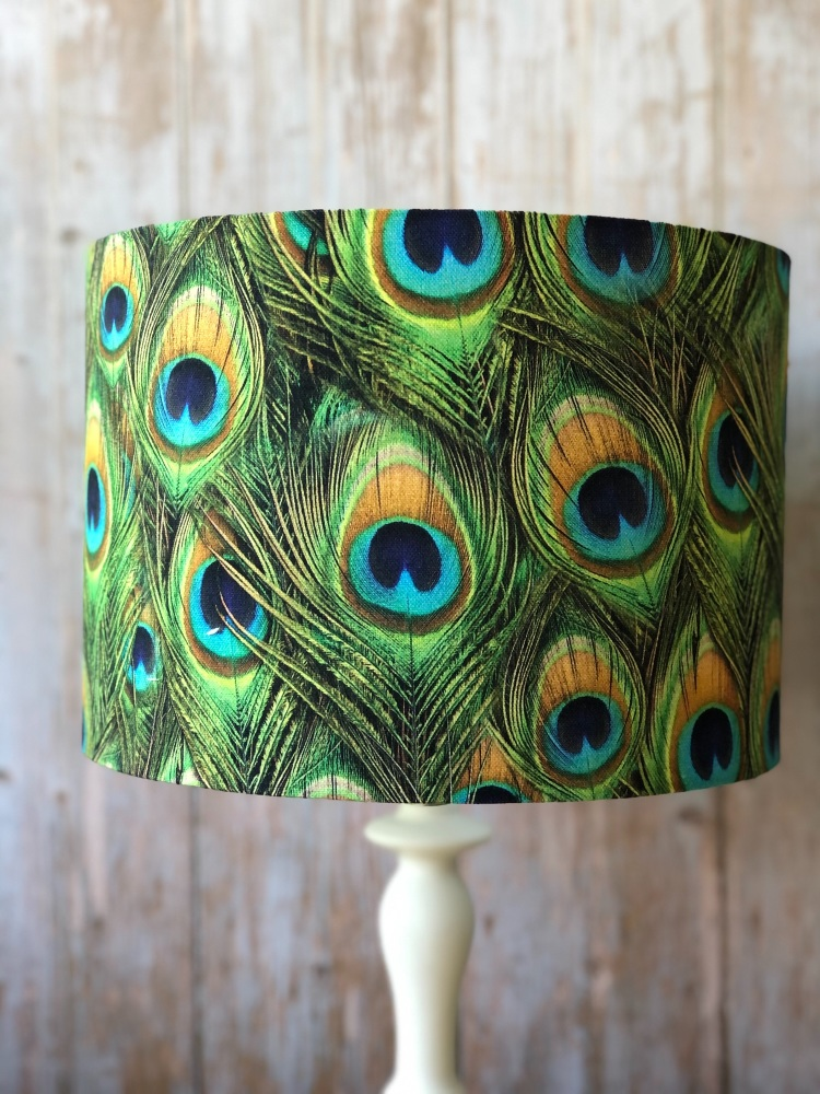 Lampshade- Peacock Feathers
