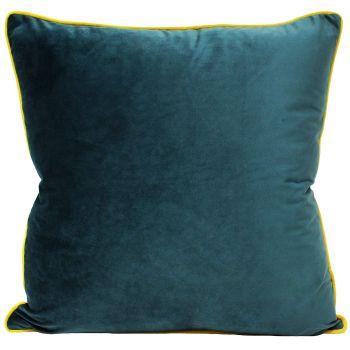 Large Velvet Cushion - Teal and Ceylon