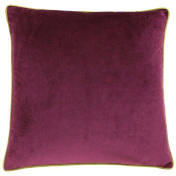 Large Velvet Cushion - Maroon and Moss
