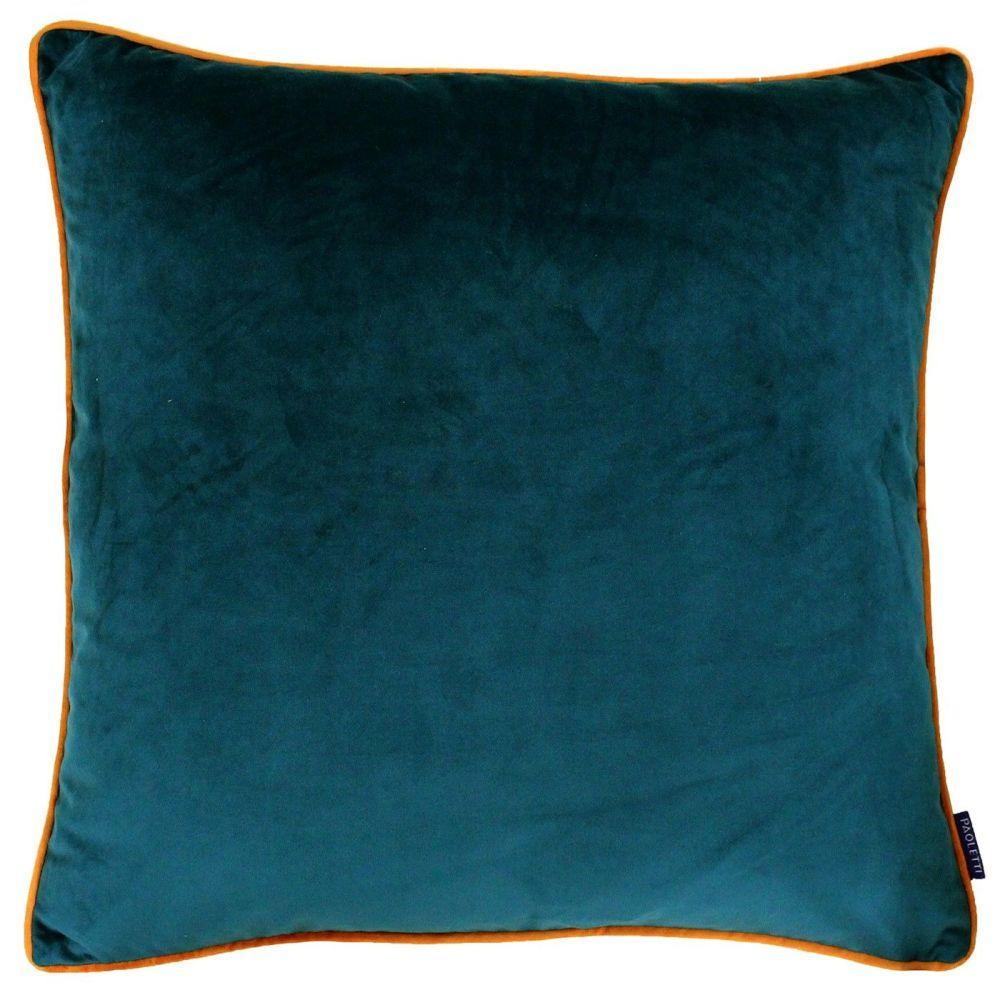 Large Velvet Cushion - Teal and Tiger