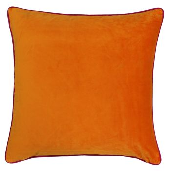 Large Velvet Cushion - Clementine and Hot Pink