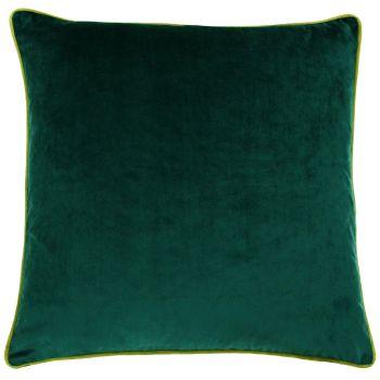 Large Velvet Cushion - Emerald and Moss