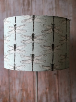 Lampshade - Linen Dragonfly - Duck Egg