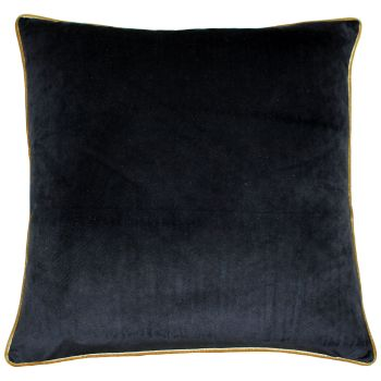 Large Velvet Cushion - Black and Gold