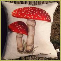 Linen Fly Agaric Toadstool