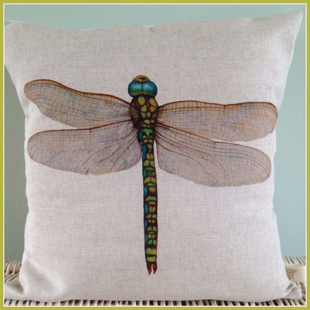 Beautiful Dragonfly Linen Cushion