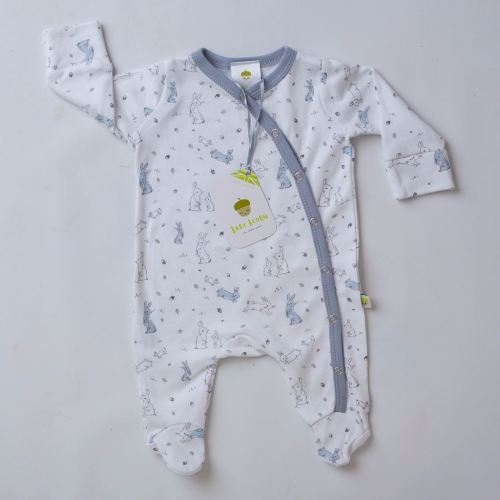 Sketched Bunnies Sleepsuit