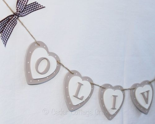 Personalised Double Heart BuntingLovely double hearts in two colours person