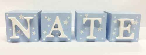 Personalised wooden blocks with stars