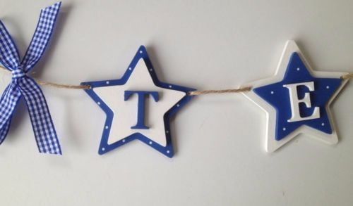 Personalised Double Star Bunting (Alternating colours)