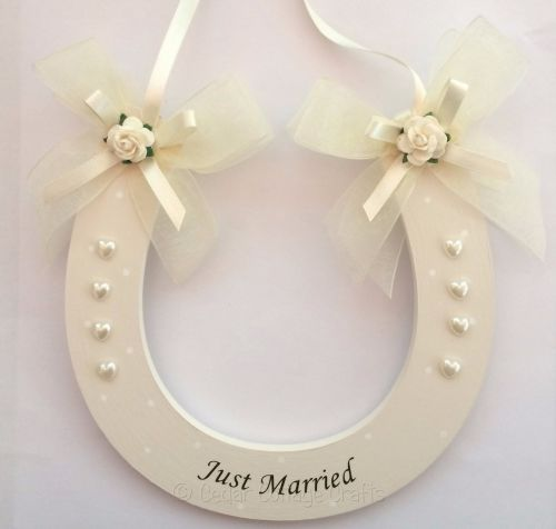 Just Married Wedding Horseshoe