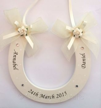 Personalised Wedding Horseshoe in Ivory