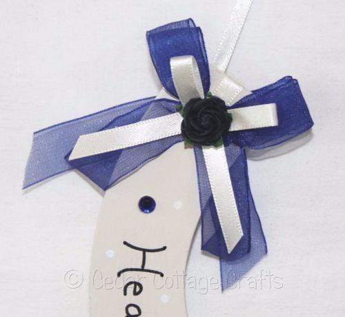 Personalised Wedding Horseshoe in Navy Blue & Ivory