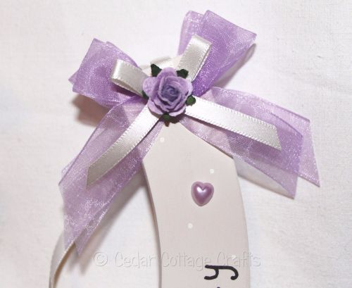 Personalised Wedding Horseshoe in Lilac & Ivory