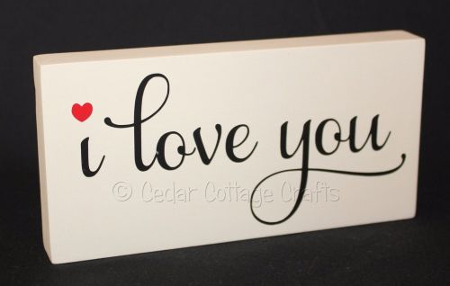 Personalised Plaque - I Love You