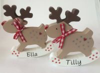 Personalised Rocking Rudolph Christmas decoration