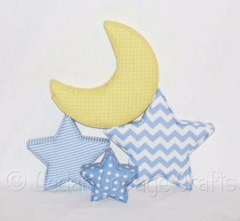 Fabric Covered Padded Moons