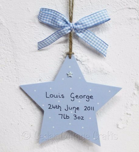 Personalised New Baby Chunky Star