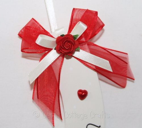 Personalised Wedding Horseshoe in Red & Ivory