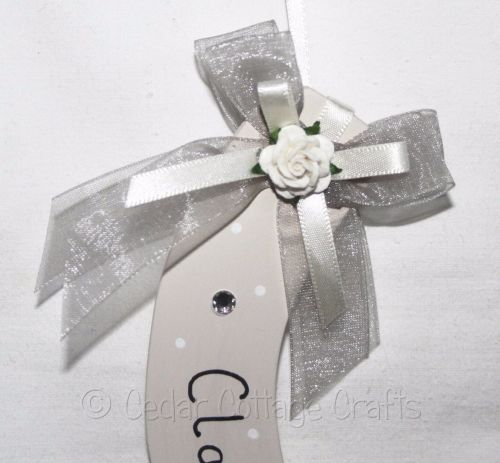 Personalised Wedding Horseshoe in Silver & Ivory