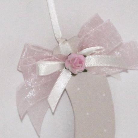 Personalised Wedding Horseshoe in Pale Pink & Ivory
