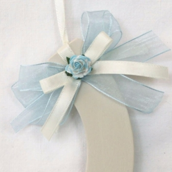 Personalised Wedding Horseshoe in Pale Blue & Ivory