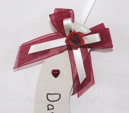 Personalised Wedding Horseshoe in Red Wine & Ivory