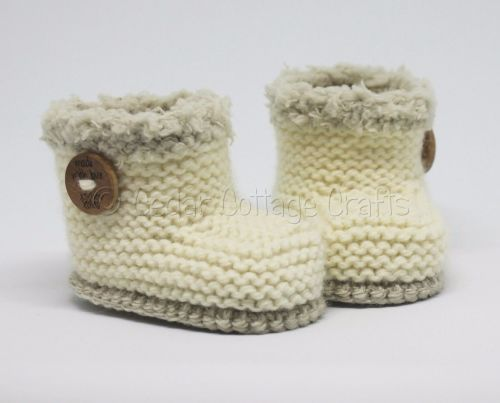 Knitted Baby UGG style boots