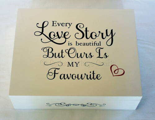 Personalised Large Memory/Gorgeous wooden keepsake box
