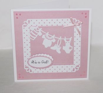 New Baby Card - It's a Girl!/Boy! Washing Line