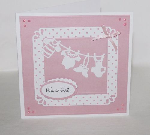 New Baby Card - Washing Line