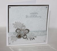 Happy Birthday Card - Silver or Gold