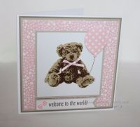 New Baby Card - Teddy Bear with Balloon