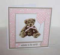 New Baby Card - Teddy Bear with Balloon