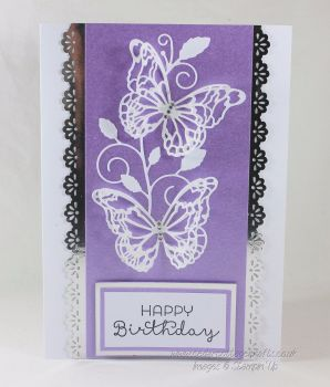 Happy Birthday Card -  Butterfly Trail